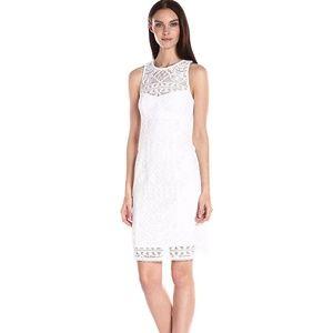 Nanette Lepore Antique Lace Shift Dress Ivory 8